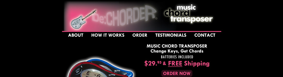 DeChorder Music Chord Transposer